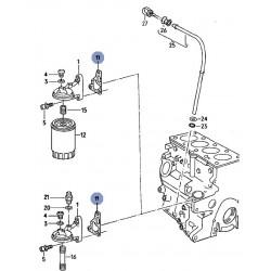 Joint entre support de filtre à huile et bloc moteur