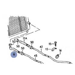 Durite d'eau inférieure droite sur radiateur avant