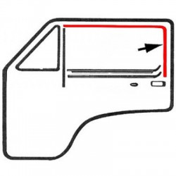 Guide vitre feutrine sur porte avant gauche ou droit