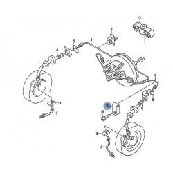 Collier de maintien de tuyau rigide de frein sur chassis